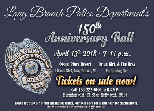 Long Branch PD Celebrates 150 Years of Service to the City