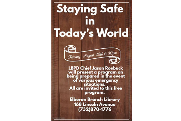 Long Branch Chief Speaks Safety at Elberon Library