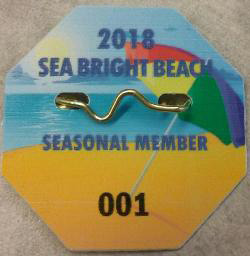 Sea Bright Beach Badges