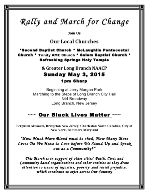 Black Community March for Change May 3