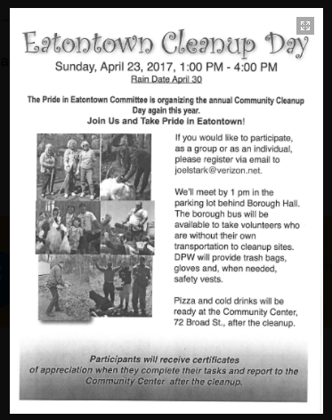 Eatontown Cleanup Day