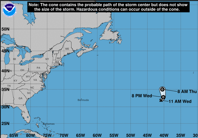Subtropical Storm Forms In Atlantic