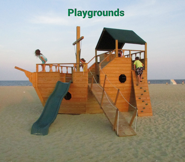 Four Beach Playgrounds for the Kids!