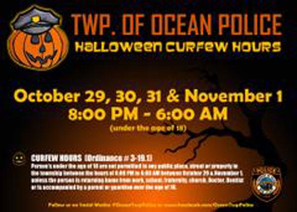 Ocean Township PD Halloween Curfew