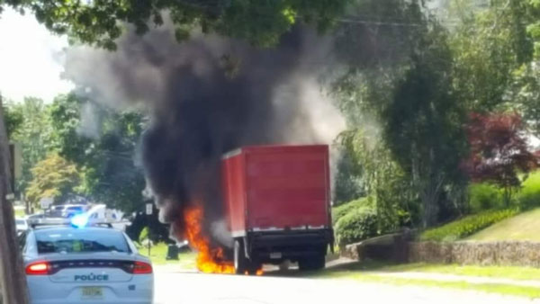 Truck Fire on Norwood
