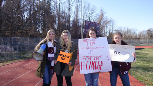 RBR Students Walk Out in Solidarity with Parkland Students